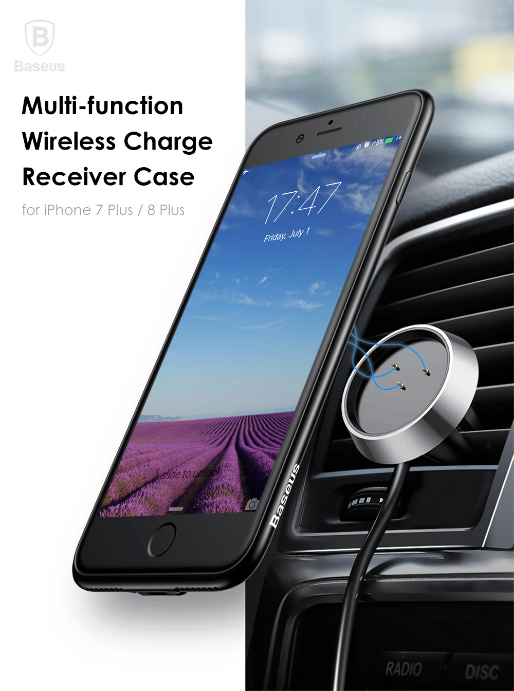 baseus magnet wireless charging case for iphone 7 plus 8. Black Bedroom Furniture Sets. Home Design Ideas