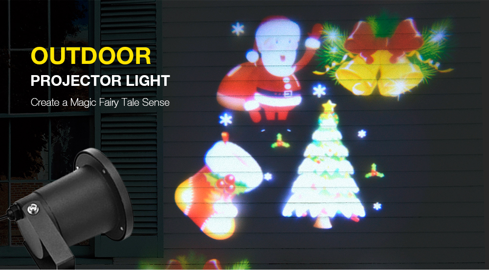 XL - J18 Christmas Outdoor Projector Light IP65 Waterproof Decorations for Garden Lawn House