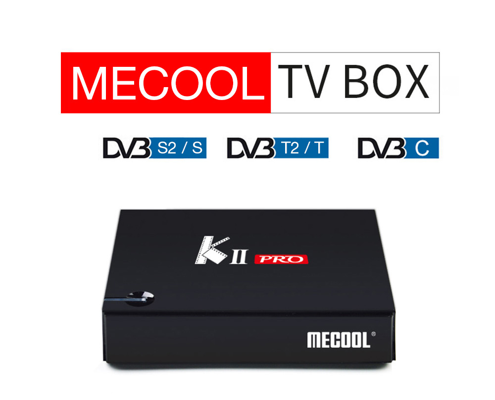 MECOOL KII PRO Android TV Box Amlogic S905D CPU Support 2.4 / 5GHz WiFi 4K H.265 BT4.0- Black US Plug + 2GB RAM + 16GB ROM