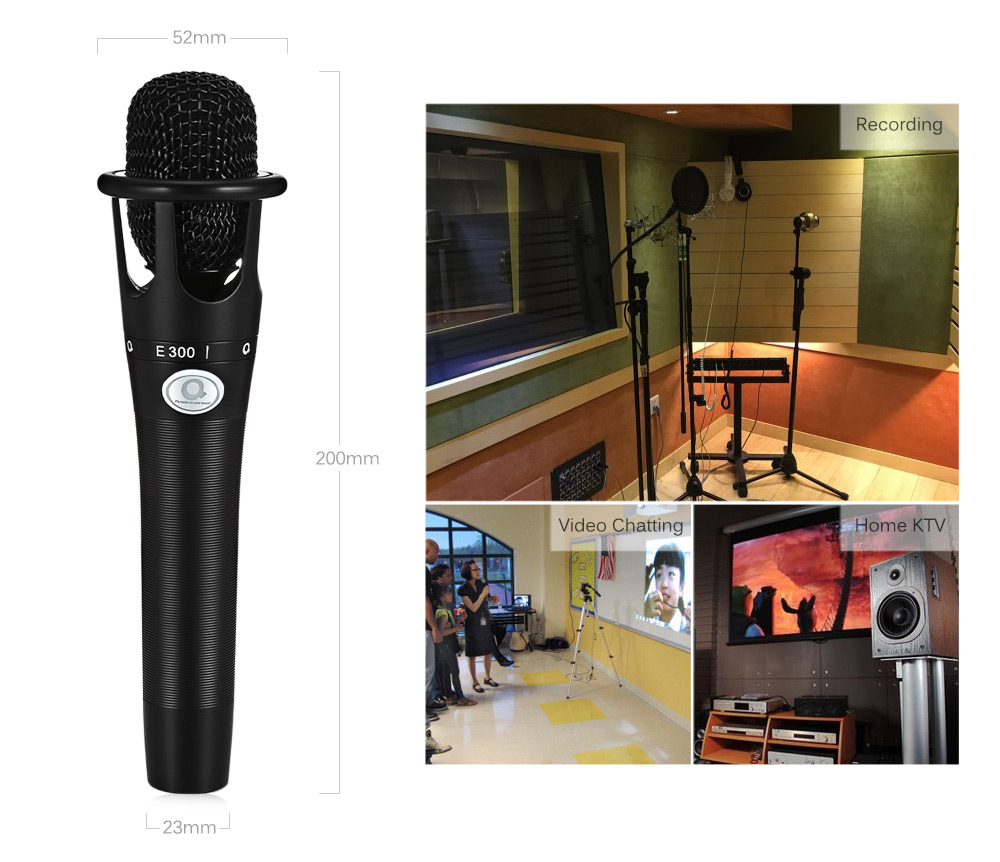 AQTA e - 300 Professional Condenser Microphone Recording Desktop Mic with Shock Mount for PC Laptop