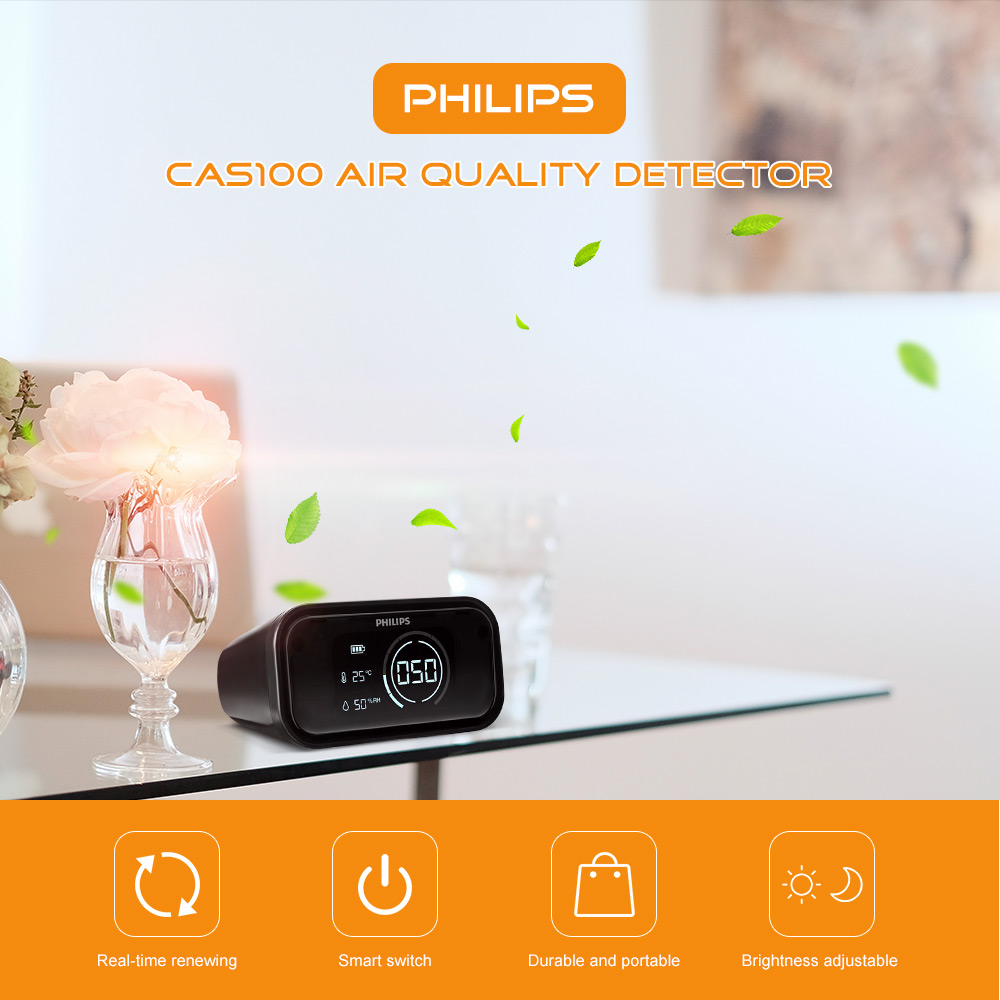 PHILIPS CAS100 Air Quality Detector PM2.5 for Car / Home / Office