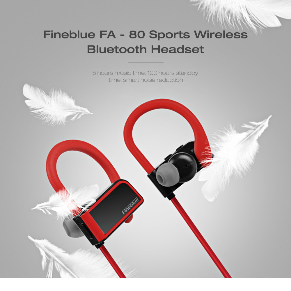 Fineblue FA - 80 Sports Wireless Bluetooth Headset Sweatproof Magnetic Earphone HD Sound Quality