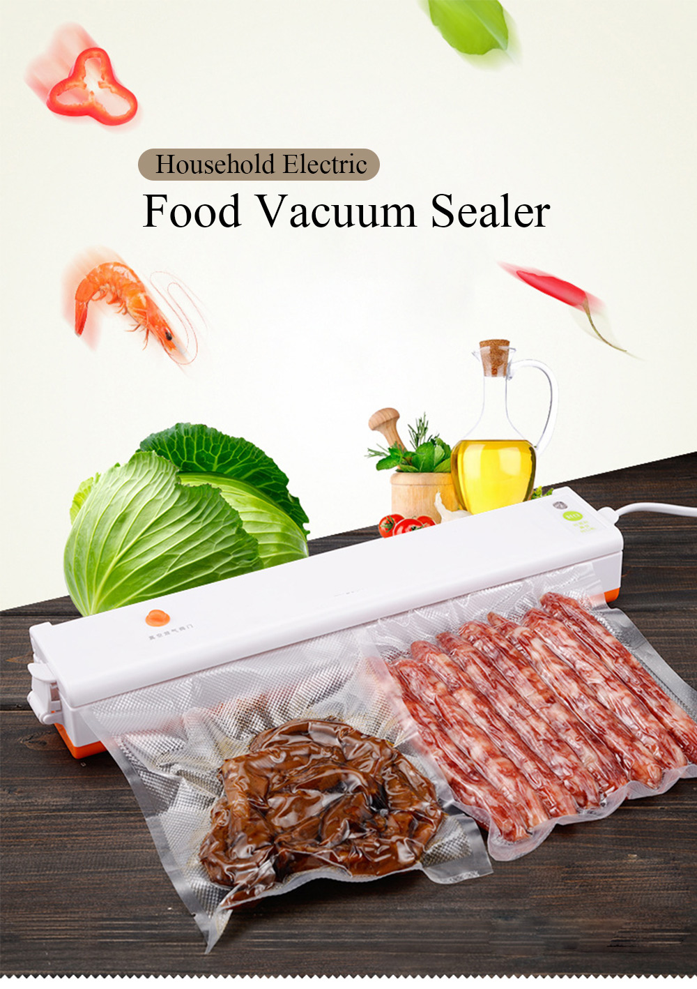 Automatic Electric Food Vacuum Sealer
