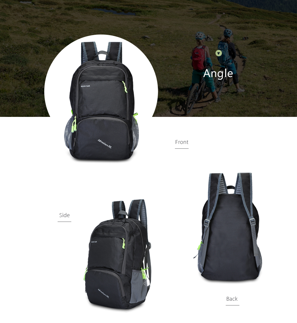 e0c2358562 SOLDIERBLADE Outdoor Folding Backpack Camping Hiking Foldable Sport Bag-  Black