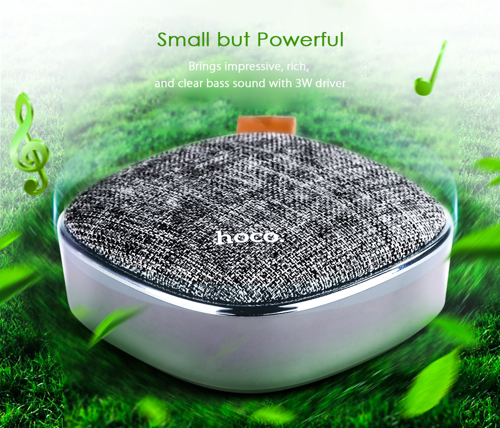 HOCO BS9 Bluetooth Speaker Portable Wireless Player Support TF Card AUX- Gray