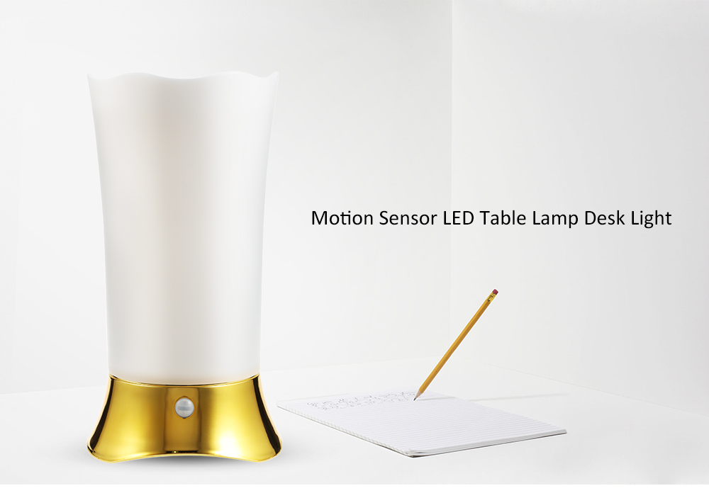 Motion Sensor Table Lamp Desk Light Home Indoor
