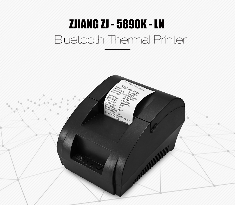 ZJIANG ZJ - 5890K - LN Portable Bluetooth Thermal Printer