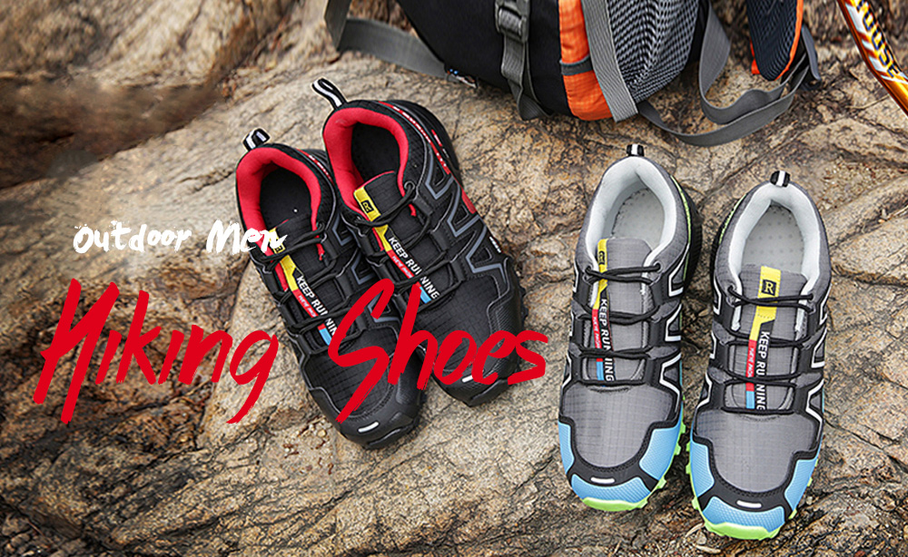 Hiking Men Running Shoes Sport Outdoor Jogging Walking Athletic Sneakers