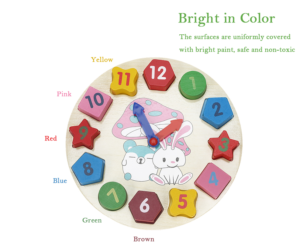 Digital Geometry Clock Educational Toy- Colormix