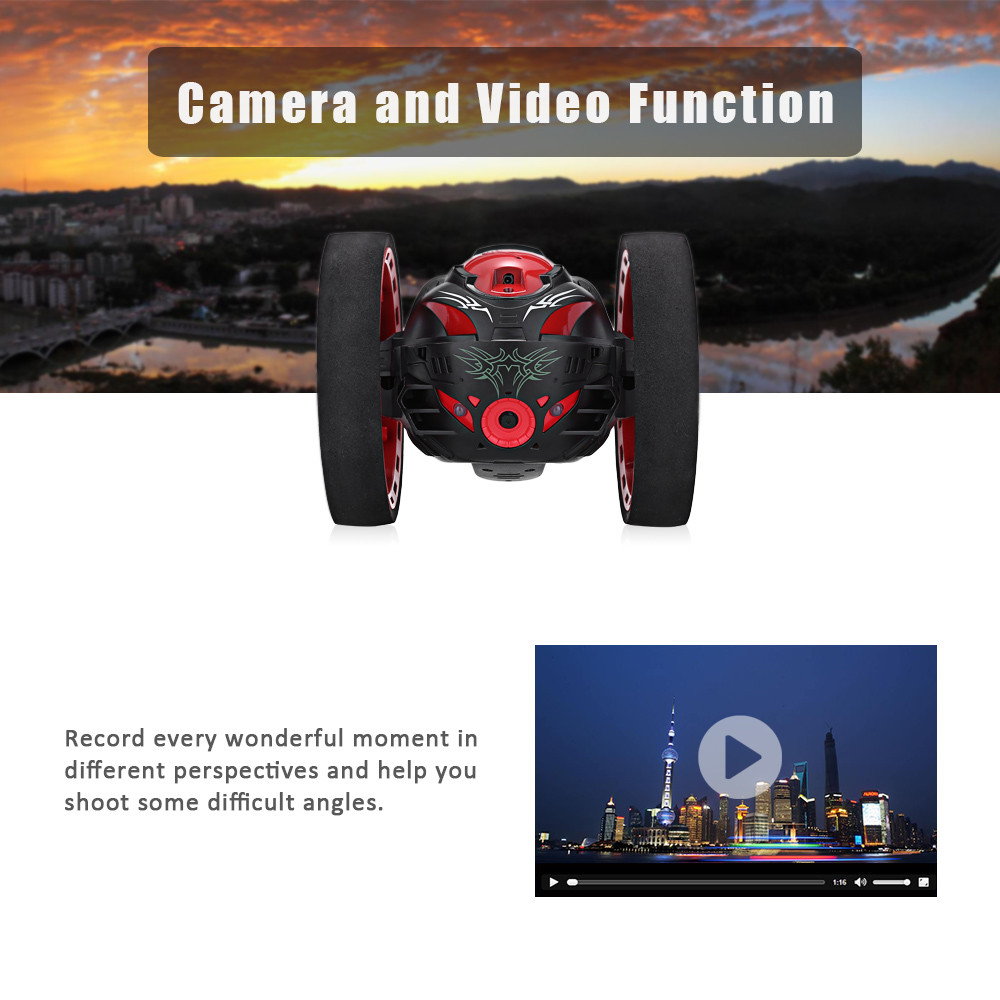 Paierge PEG - 88 2.4GHz Remote Control Bounce Car with 80W Camera