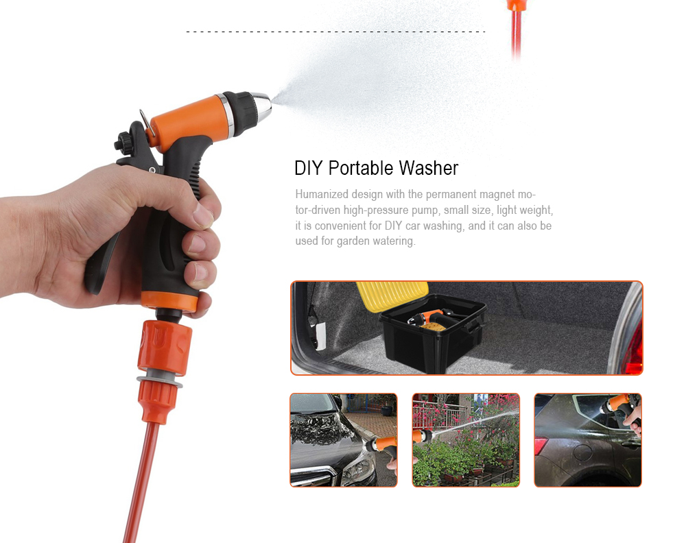 12v 60w Portable Car Washer Electric Water Spray Gun 2795 Free Oil Seal Kit Kc Mio Package Contents 1 X Pump Outlet Pipe Inlet Fuse Gasket 2 Connector Towel Sponge