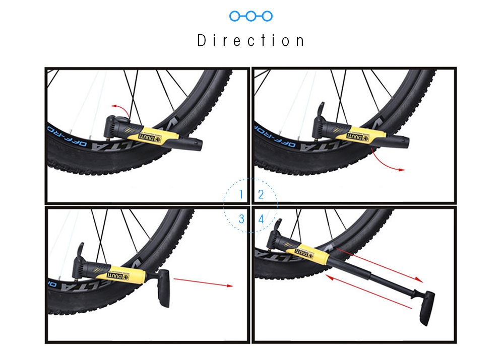DUUTI Bicycle Inflator Tire Air Pump Portable Bike Universal Cycling Accessories