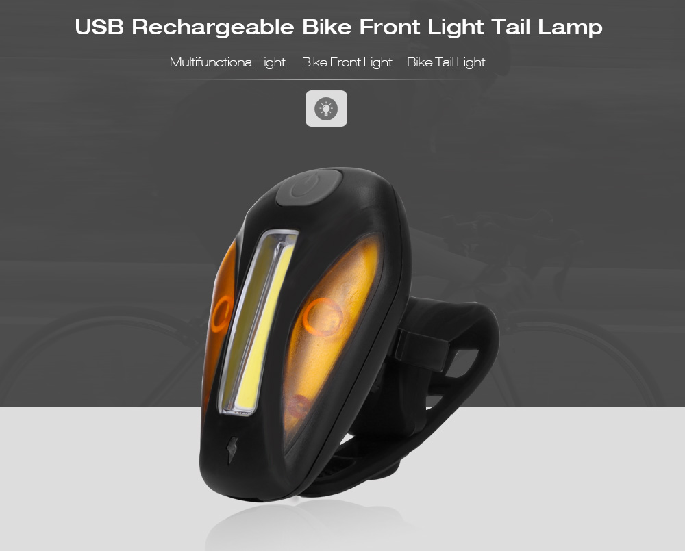 Comet USB Rechargeable Bike Cycling Front Flashlight Headlight Tail Light