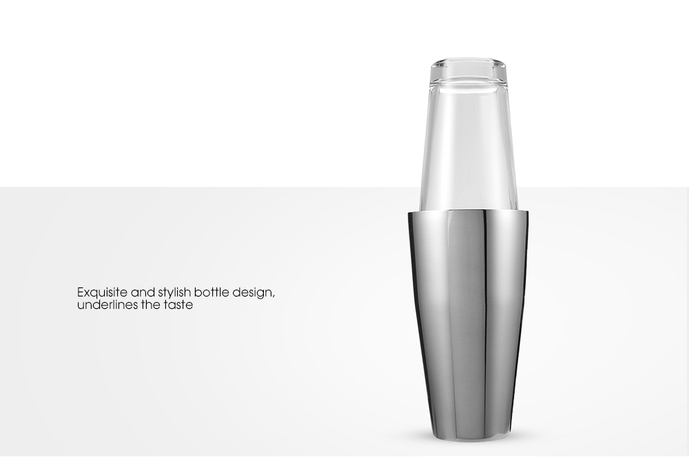 Professional Stainless Steel Bartender Cocktail Shaker- Silver