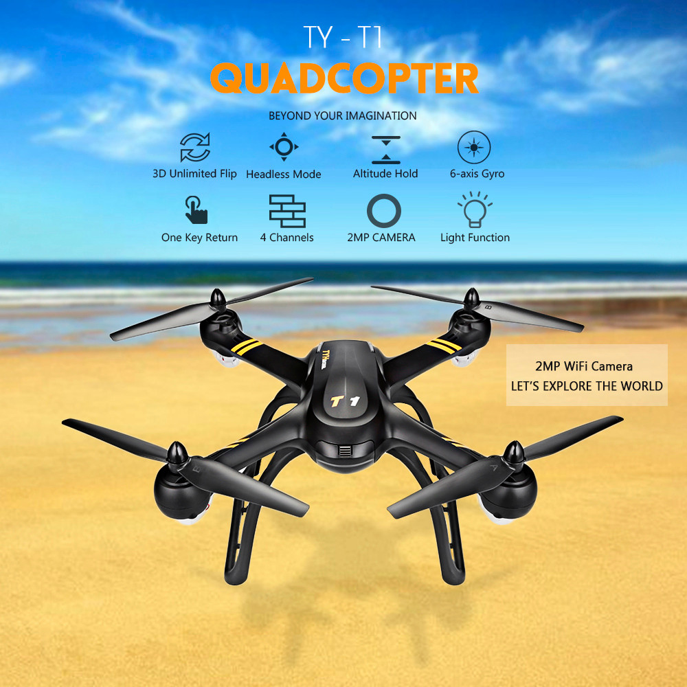Flytec Ty T1 24ghz 4ch Rc Quadcopter 2mp Wifi Camera 11757 Quadrotor Wiring Diagram 720p 6 Axis Gyro