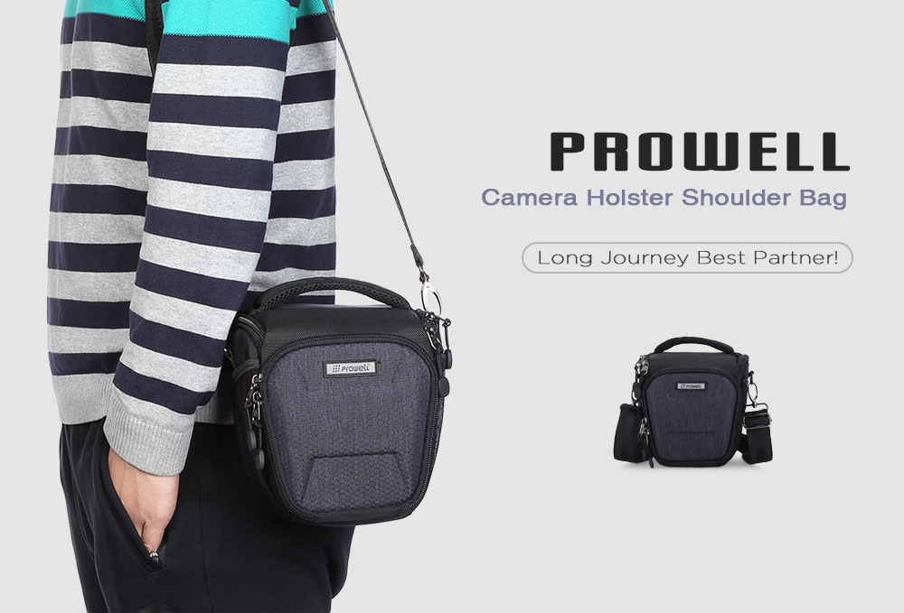 PROWELL DC22355 Water Resistant Camera Holster Shoulder Bag for Compact System