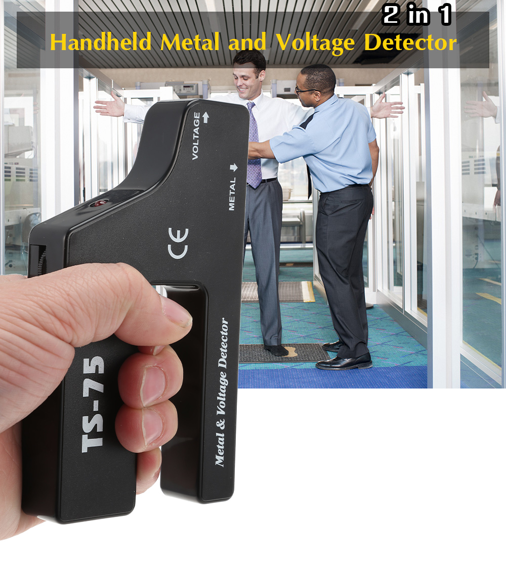 TS - 75 2 in 1 Handheld Metal and Voltage Detector