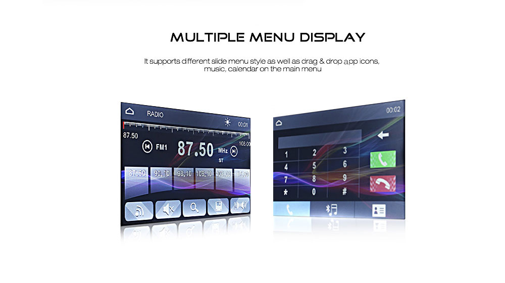 e5f670e93bd0 SWM - 8013B Universal 7 inch Touch Screen Car MP5 Player with Camera  Steering Wheel Control