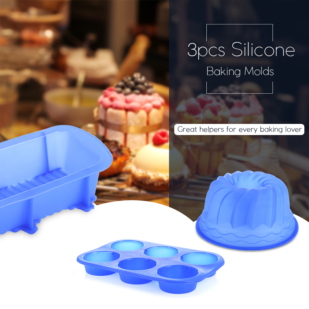 3pcs Silicone DIY Cake / Jelly Molds Decorating Modelling Tools