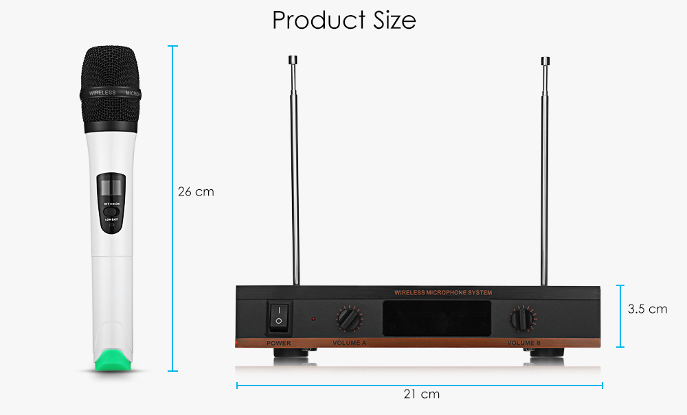 MV - 2800 1 for 2 Wireless Microphone Home KTV Suits for Computer Family TV