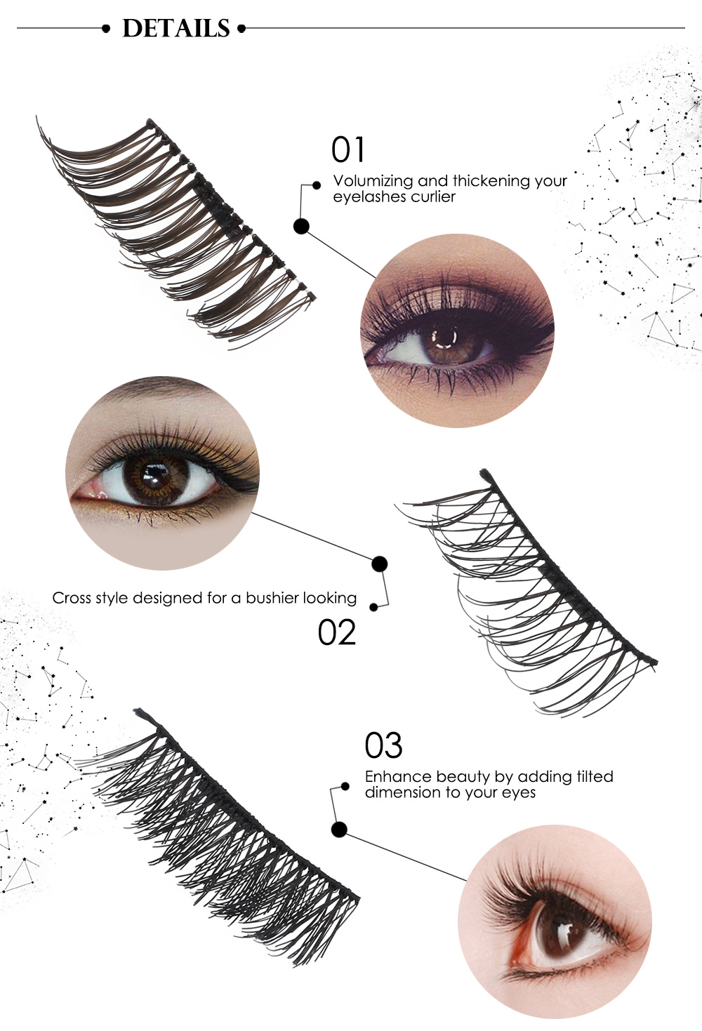 d336d182aad 2 Pairs Natural Magnetic False Eyelashes Extension Eye Beauty Makeup  Accessories- #05