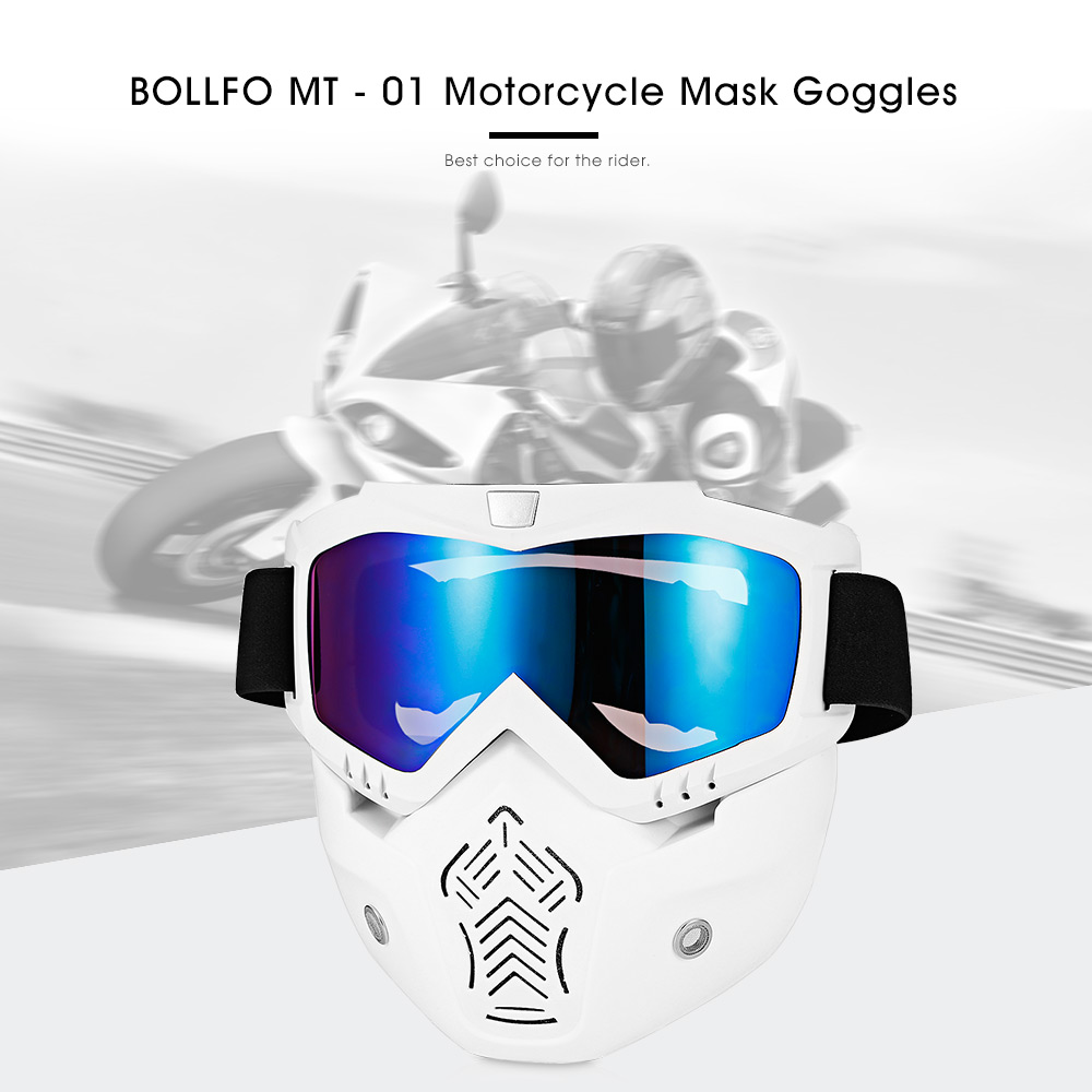 BOLLFO MT - 01 Motorcycle Mask Goggles Detachable Windproof for Motocross Outdoor Riding Skiing