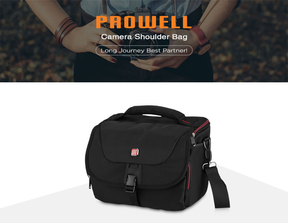PROWELL DC21791C Water Resistant Camera Shoulder Bag for Compact System