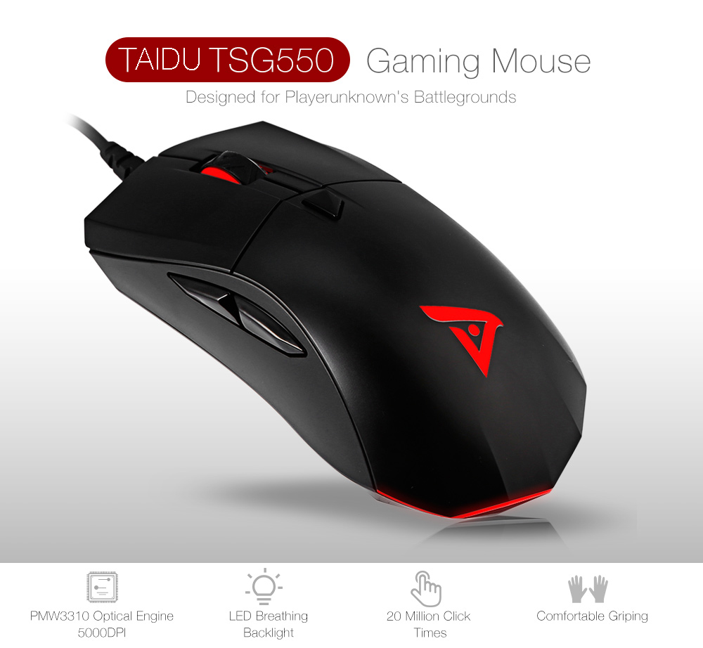 TAIDU TSG550 Wired Gaming Mouse with LED Light 5000DPI Support RGB