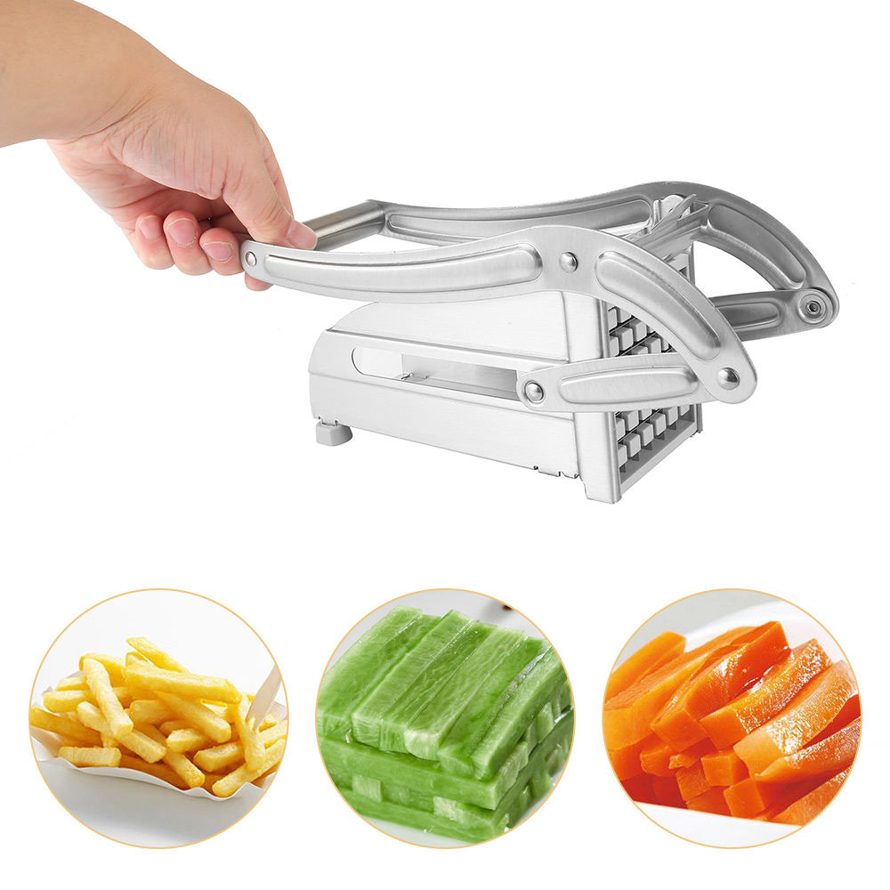Stainless Steel Household Potato Strip-cutter- Silver