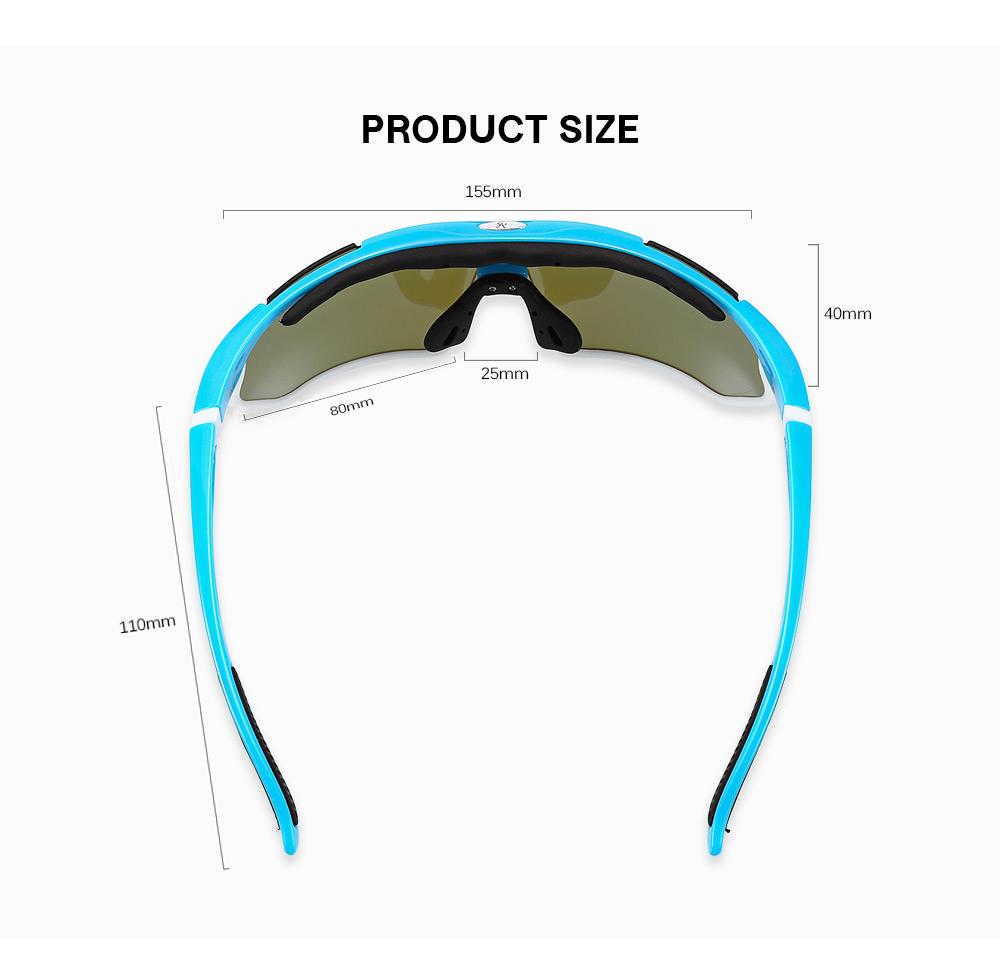 BOLLFO Motorcycle Goggles Set for Outdoor Riding Fishing Climbing Hiking Skiing