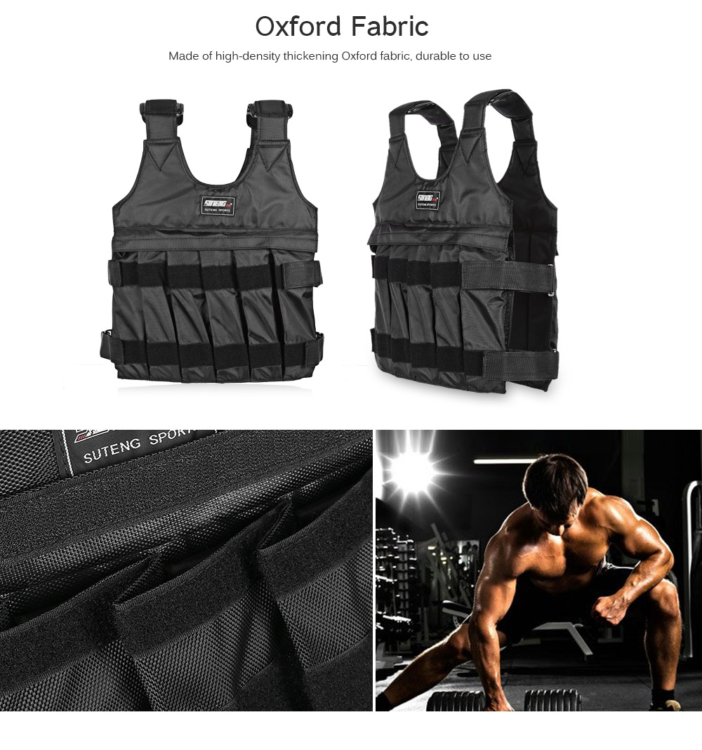 Adjustable Weighted Vest Workout Exerciser for Boxing Training OL