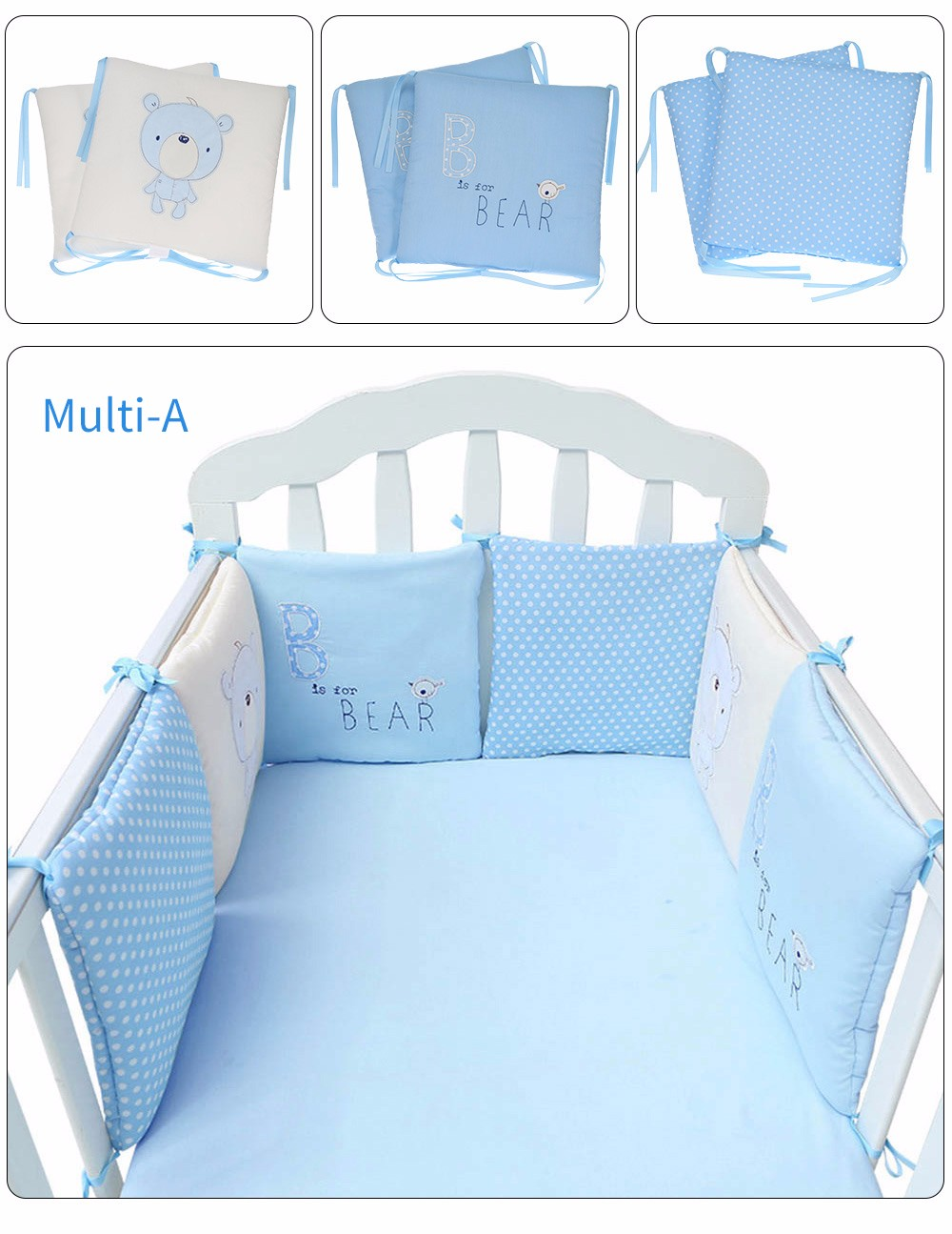 Cotton Thickened Infant Sleep Bed Drop-proof Removable Washing Solid Color Portable Cartoon European Style Mattress Cartoon Online Shop Baby Furniture Baby Cribs