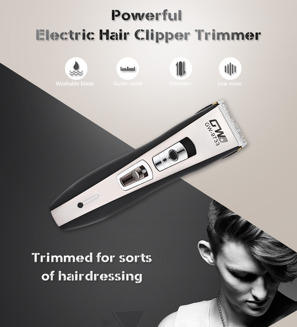 Guowei GW - 9733 Powerful Electric Hair Clipper Trimmer Styling Haircut