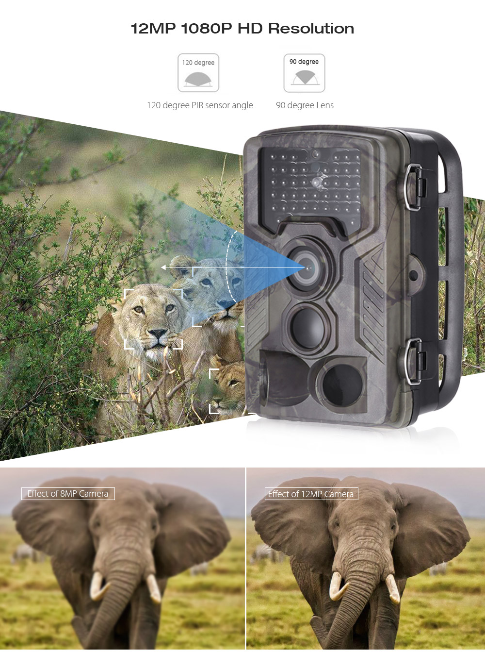 Outlife HC - 800A Infrared Digital Trail Hunting Camera Wildlife Scouting Device- ACU Camouflage
