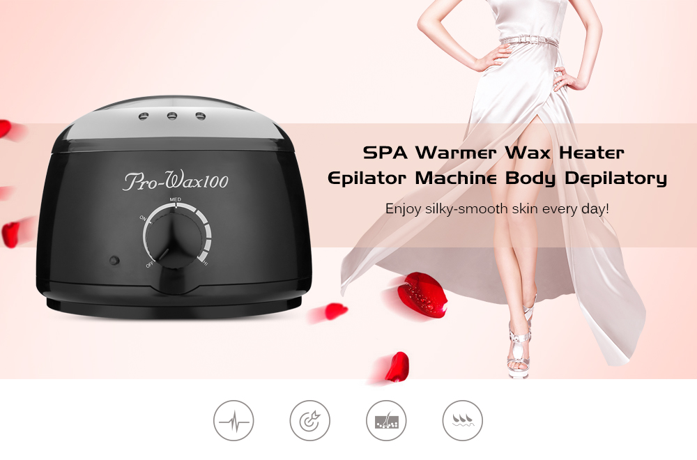 Hair Removal Electric Wax Warmer Machine Heater with Beans Papers Applicator Sticks Waxing Kit