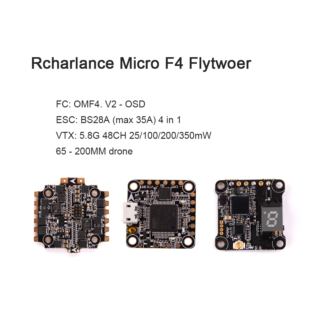 Rcharlance VX20 Flytwoer 28A 2 - 4S 4 in 1 ESC 25 / 100 / 200 / 350mW FPV Racing Frame