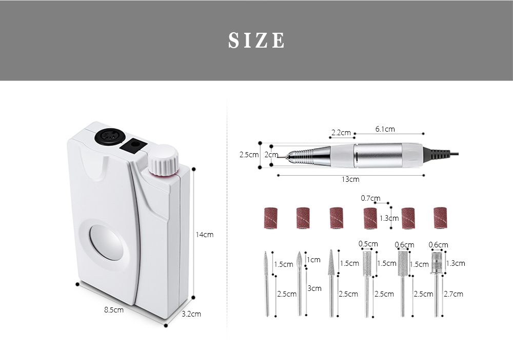 Electric Rechargeable Nail Manicure Pedicure Tools Files Polisher Grinding Glazing Equipment Set- Red Wine EU Plug