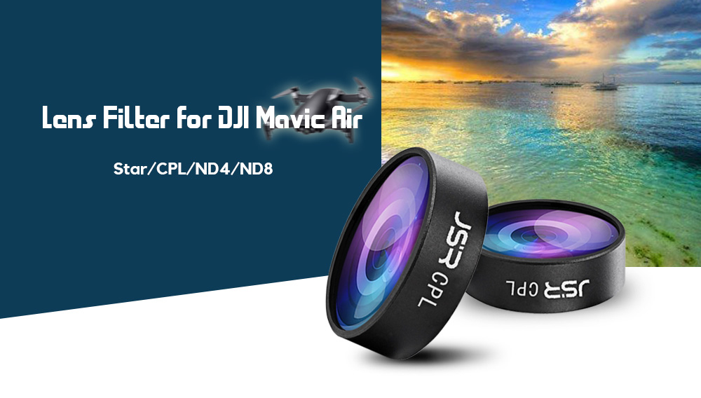 4PCS 6X Lens Filter for DJI Mavic Air RC Drone - Star / CPL / ND4 / ND8