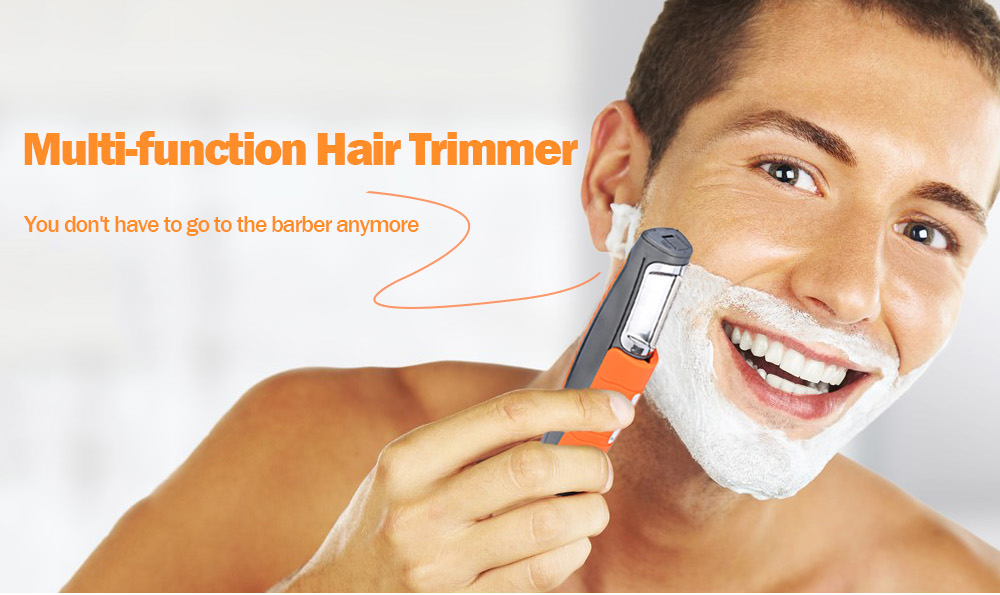 Multi-function 2 in 1 Hair Trimmer with 4 Comb- Light Salmon