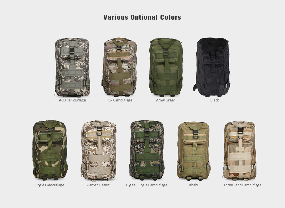 72786e603a48 3P 30L Backpack Sports Bag for Camping Traveling Hiking Trekking