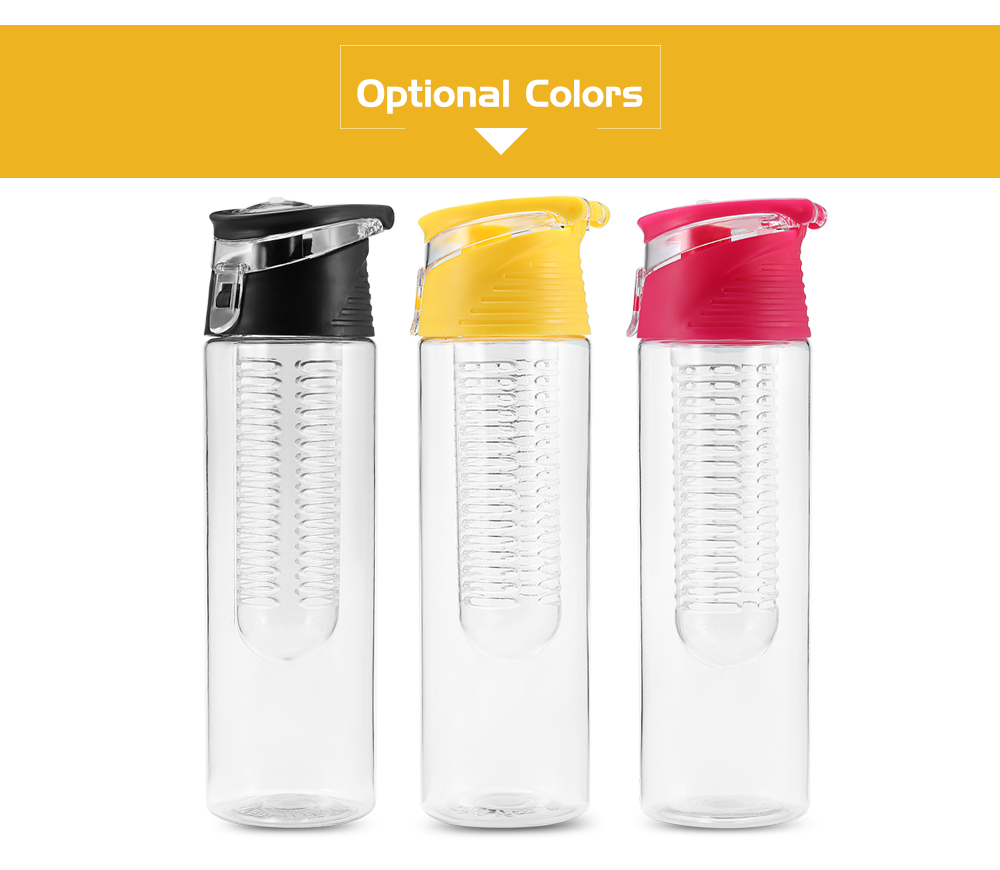 Portable Fruit Water Bottle for Outdoor Sports- Violet Red