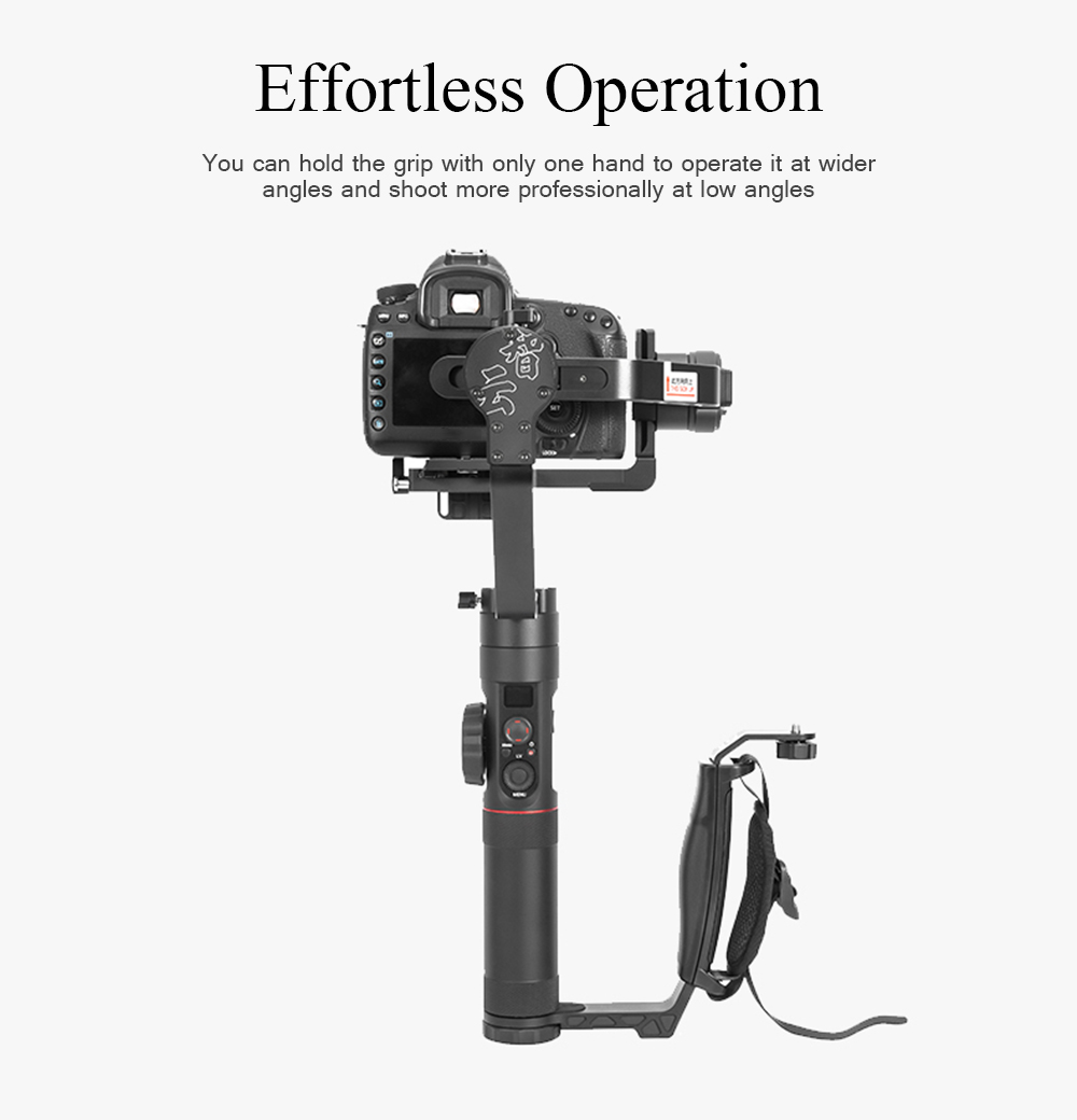 Zhiyun Crane 2 Gimbal Accessories L Staffa Mini Dual Grip Maniglia- Nero