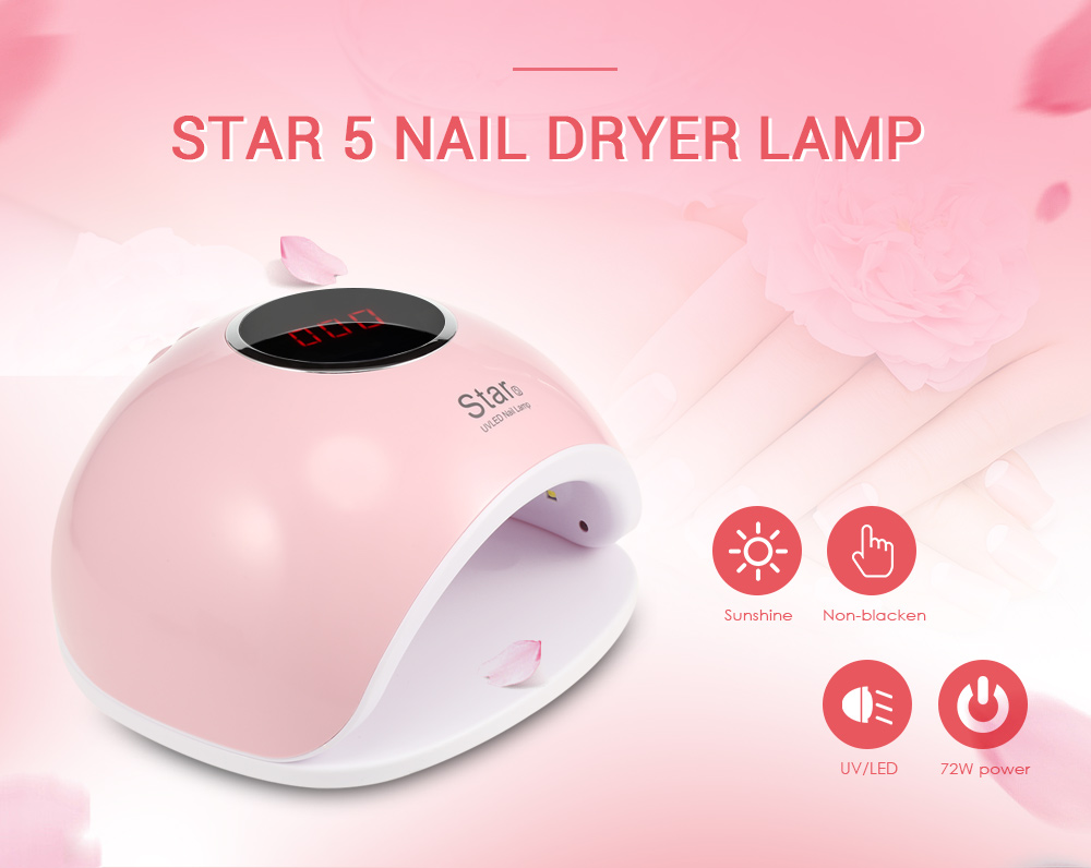 Star 5 Uv Led Manicure Tool Curing Nail Gel Dryer Lamp Home Salon