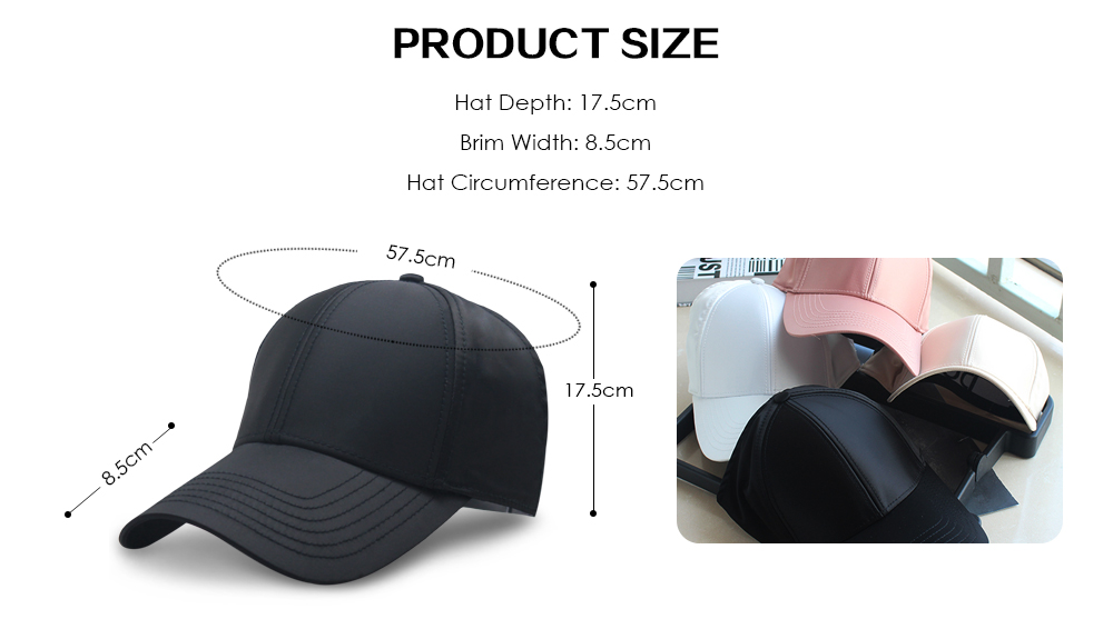 Baseball Cap Solid Color Men Women Casual Hollow Out Breathable Outdoor Hat-  Black 13d299797874