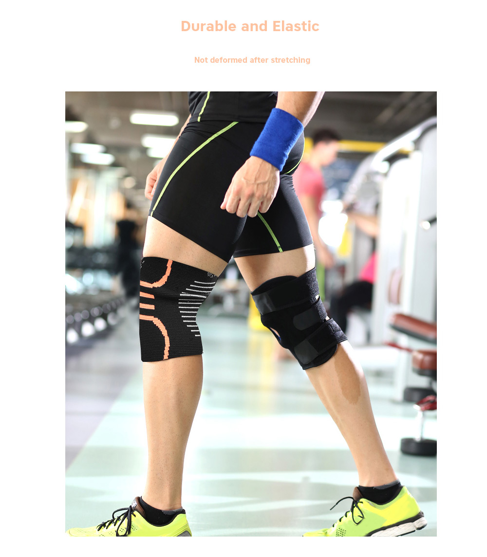 OULANG Sport Knee Sleeve Pad Collision Avoidance Protective Gear- Black M