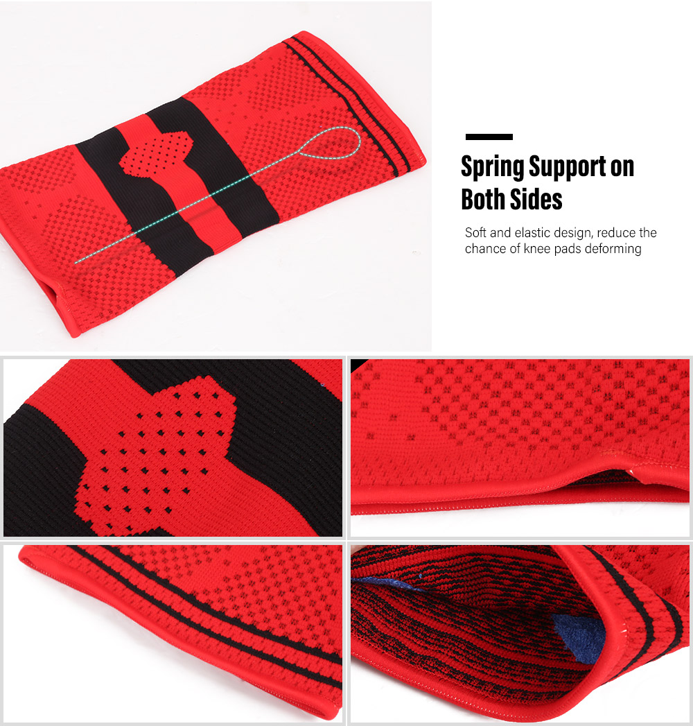 Silicone Anti-collision Support Knee Pads- Red S