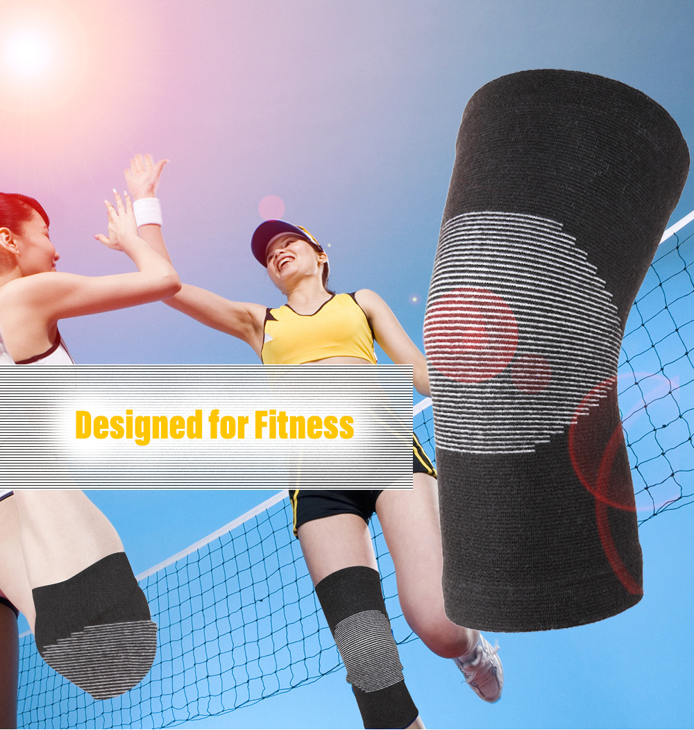 OULANG Bamboo Charcoal Elastic Compression Support Knee Pads- Black S