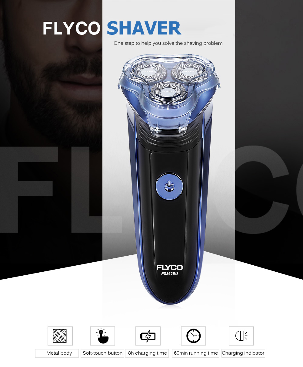 Gearbest FLYCO FS362EU Electric Shaver with Comfort Cut Blade System for Men
