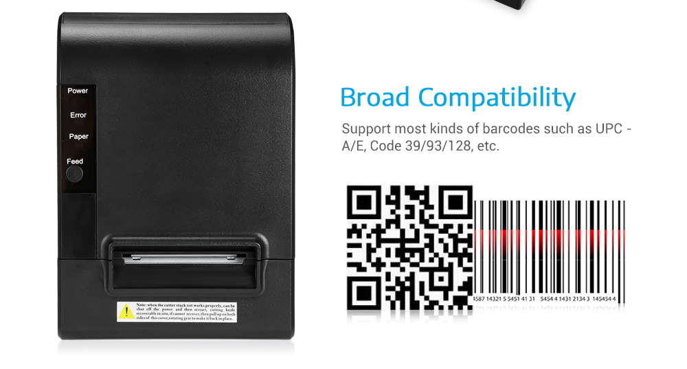 GOOJPRT JP58DC Portable USB Thermal Receipt Printer with Cutter for Android iOS