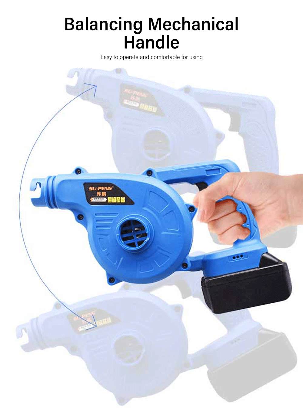 29800mAh Powerful Li-ion Battery Electric Air Blower Dust Collector